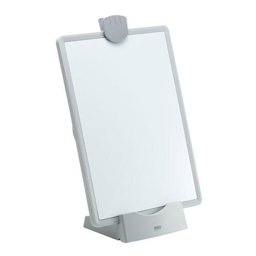 データホルダー(ブックスタンド・ホワイトボード・VESA対応・ホワイト)