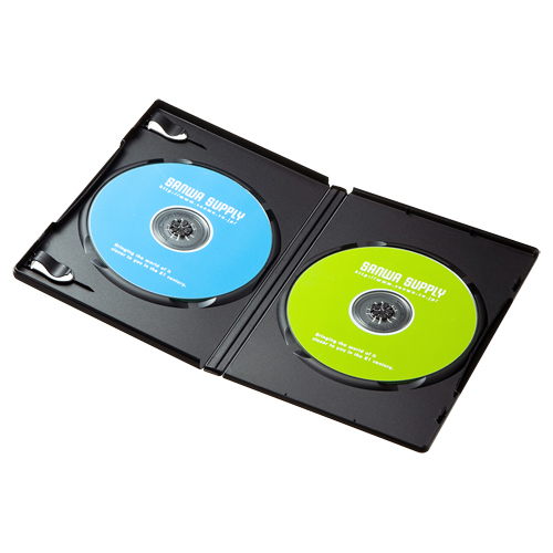 DVDケース(2枚収納・3枚パック・ブラック)