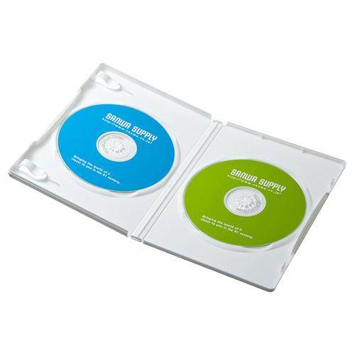 DVDケース(2枚収納・3枚パック・ホワイト)