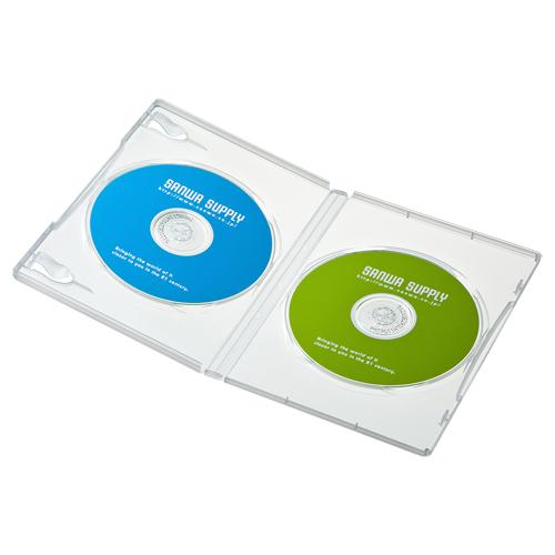 DVDケース(2枚収納・10枚パック・クリア)