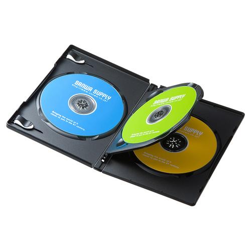 DVDトールケース(3枚収納・3枚パック・ブラック)