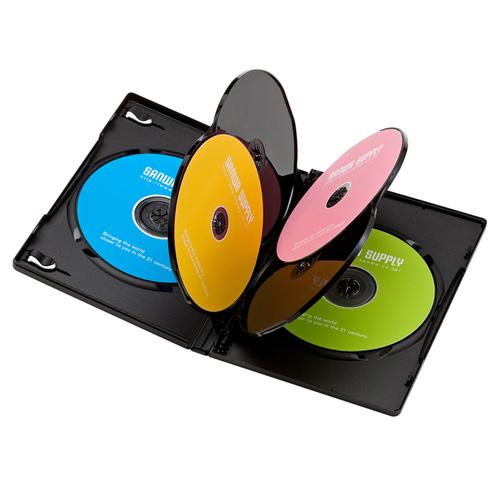 DVDトールケース(6枚収納・3枚パック・ブラック・14mm)