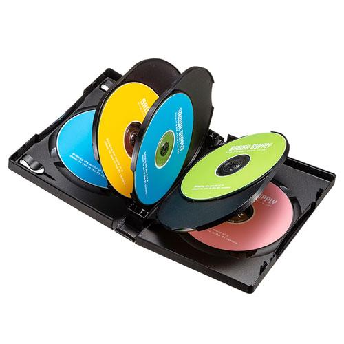 DVDトールケース(8枚収納・ブラック・27mm)