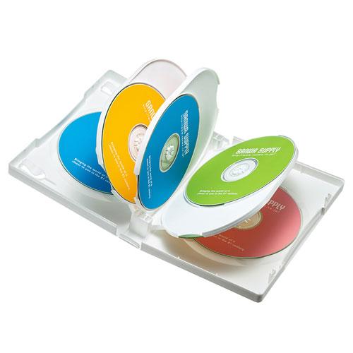 DVDトールケース(8枚収納・3枚パック・ホワイト・27mm)