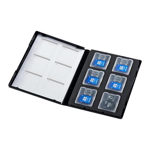 SD・microSDケース(DVDトールケース型・クリアケース収納タイプ)