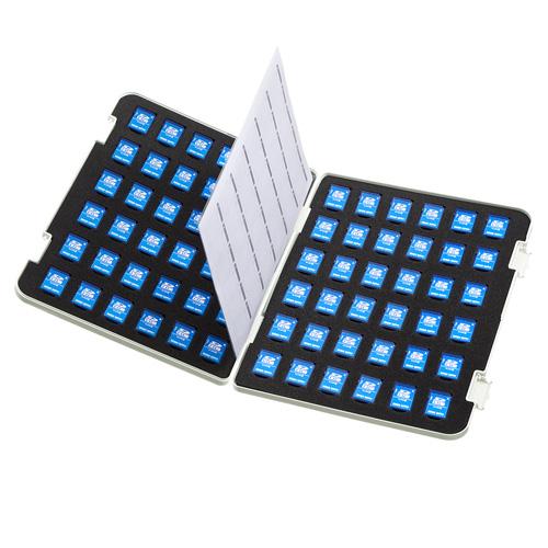メモリーカードファイルケース(SDカード用・両面収納タイプ・72枚収納)