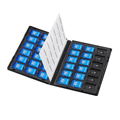 SD・microSDケース(DVDトールケース型・合計72枚収納)