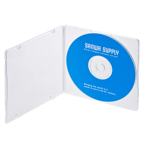 DVD・CDケース(1枚収納・10枚セット・クリア)