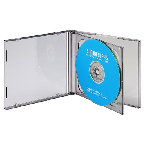 DVD・CDケース(2枚収納・5枚セット・ブラック)