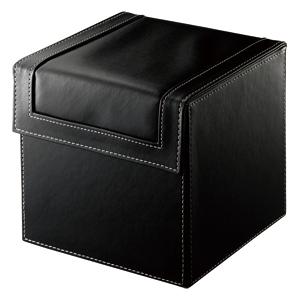 【クリックでお店のこの商品のページへ】レザー調CD・DVD収納ボックス(80枚収納・ブラック) FCD-DR9BK