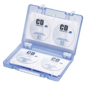 【クリックでお店のこの商品のページへ】DVD・CDファイル型ボックスケース(ブルー) FCD-FB64BL