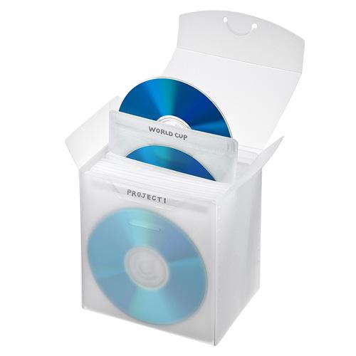 CD/DVD不織布ケース(ブルーレイディスク対応・収納ケース付き・25枚入り・クリア)