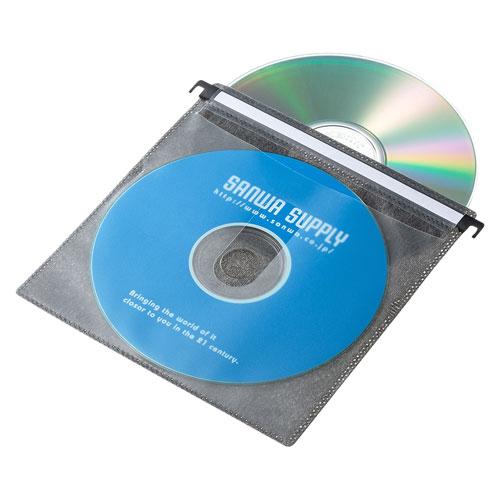 ブルーレイディスク対応ハンガー式不織布ケース(20枚入り・ブラック)