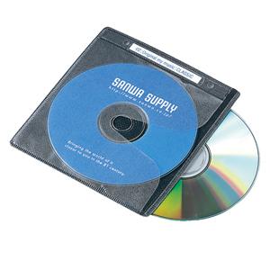2穴付DVD・CD用不織布ケース(2枚収納・ブラック・120枚セット) FCD-FR120BK