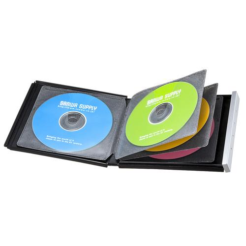 【アウトレットセール】アウトレット:ブルーレイディスク対応ポータブルハードケース(8枚収納・ブラック)