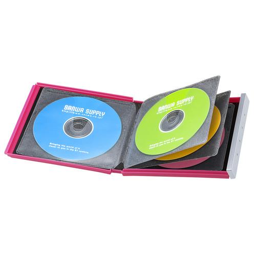 アウトレット:ブルーレイディスク対応ポータブルハードケース(8枚収納・ピンク)