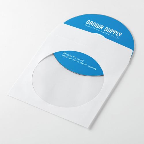 【期間限定価格】ディスクケース(DVD・CD・紙・100枚入り・ホワイト)