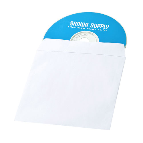 ディスクケース(DVD・CD・紙・窓なしタイプ・50枚入り・ホワイト)