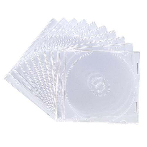 DVD・CD薄型ケース(10枚セット・クリア・5mm)