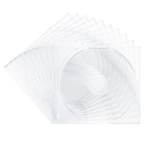 Blu-ray・DVD・CDケース(2枚収納スリムタイプ・10枚セット・クリア)