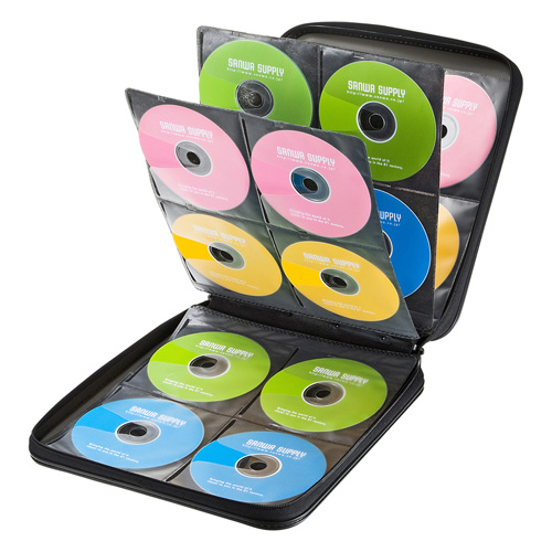 DVD・CDセミハードケース(160枚収納・ブラック)
