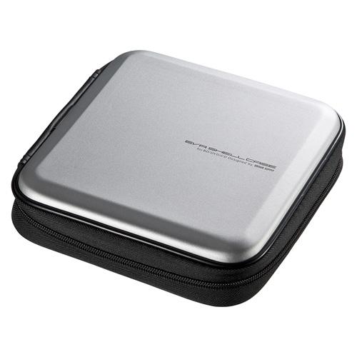 ブルーレイディスク対応セミハードケース(24枚収納・シルバー)
