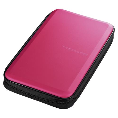 ブルーレイディスク対応セミハードケース(56枚収納・ピンク)