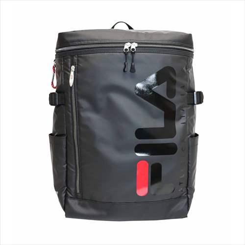 FILAリュック(バックパック・メンズ・レディース・大容量・フィラ・撥水・スクエア型/ボックス型・ブラック)