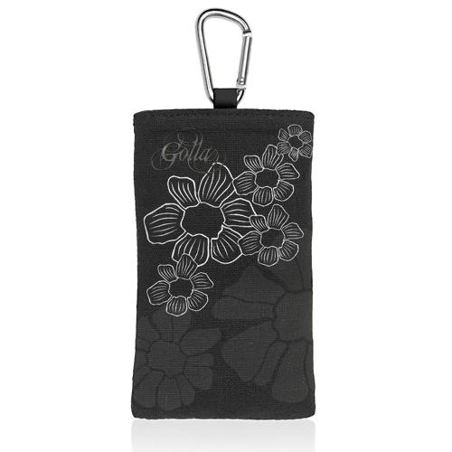 【クリックでお店のこの商品のページへ】【わけあり在庫処分】 スマートフォンケース 「GOLLA mobile bag KIT」 カラビナ付・ブラック G1132