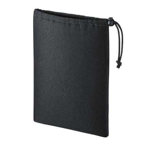 マルチクッションケース(Lサイズ・巾着タイプ・ブラック)