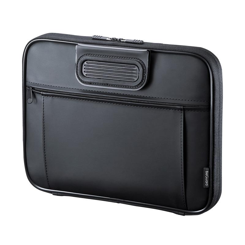 MacBook Air/Pro 13.3インチ専用インナーケース(衝撃吸収・ハンドル付き・ブラック) サンワダイレクト サンワサプライ IN-HMAC13BK