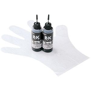 【クリックで詳細表示】詰め替えインク BCI-7eBK 約16回分(ブラック・120ml) INK-7BK120E