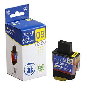 【クリックで詳細表示】リサイクルインク ブラザー LC09Y互換 イエロー JIT-B09Y_TSL