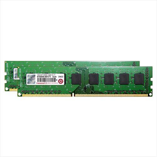 【クリックで詳細表示】Transcend デスクトップPC用増設メモリ 16GB(8GB×2) DDR3-1600 PC3-12800 U-DIMM JM1600KLH-16GK JM1600KLH-16GK