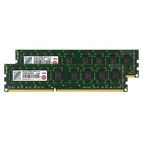 【クリックで詳細表示】Transcend 8GB(4GB×2) デスクトップPC用増設メモリ JetRam/PC3-12800(DDR3-1600) JM1600KLN-8GK JM1600KLN-8GK