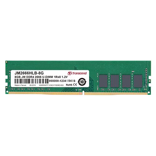 Transcend デスクトップ用メモリ 8GB DDR4-2666 PC4-21300 U-DIMM JM2666HLB-8G