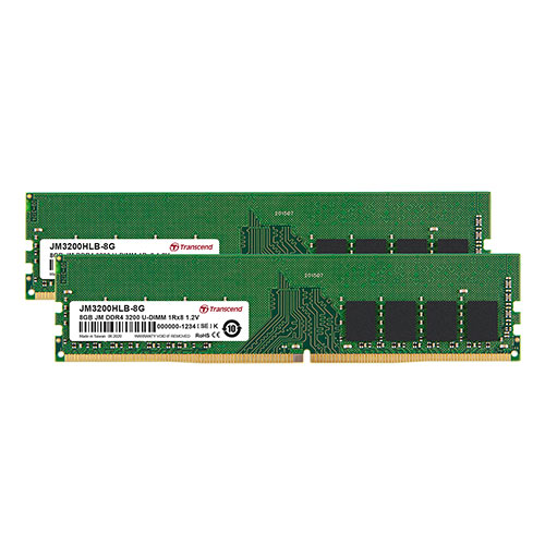 Transcend デスクトップ用メモリ 8GB 2枚セット DDR4 3200 U-DIMM 1Rx8 Dual Kit JM3200HLB-16GK