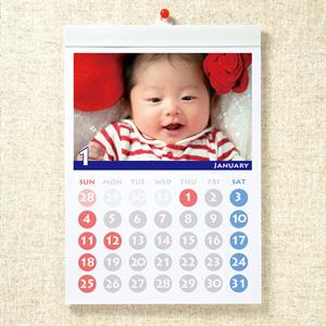 サンワダイレクト手作りカレンダーキット(壁掛・A4縦長・マット)