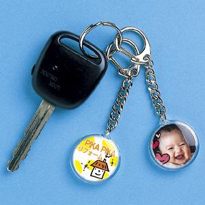 【クリックでお店のこの商品のページへ】手作りキーホルダーキット(丸・大) JP-ST09