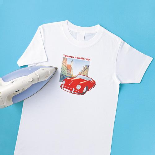 インクジェット用アイロンプリント紙(白・淡色布用)