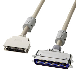 SCSIケーブル(ピンタイプハーフ50pinとセントロニクス50pinを接続・2m)