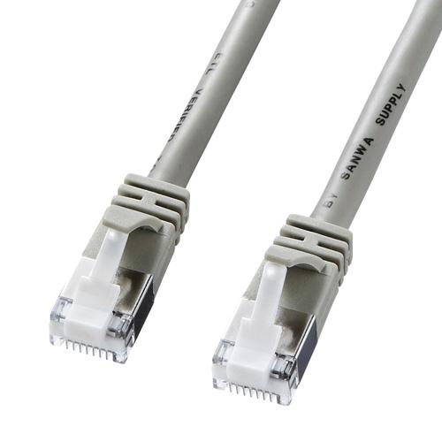ツメ折れ防止カテゴリ5eSTP LANケーブル(15m・ライトグレー)