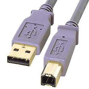 【クリックでお店のこの商品のページへ】【在庫処分】 USB2.0ケーブル(バイオレット・2m) KU20-2VAH