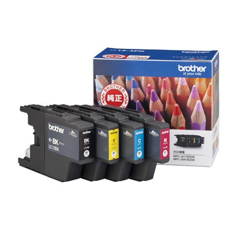 ブラザー LC12-4PK インクカートリッジ 4色パック