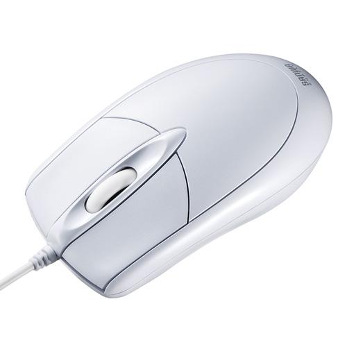 有線光学式マウス(大型・ホワイト)