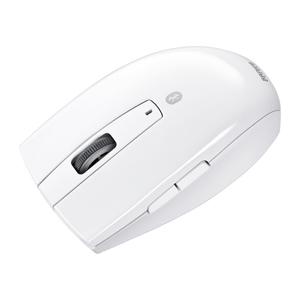 サンワダイレクトワイヤレスマウス(Bluetooth・ブルーLED・ホワイト)