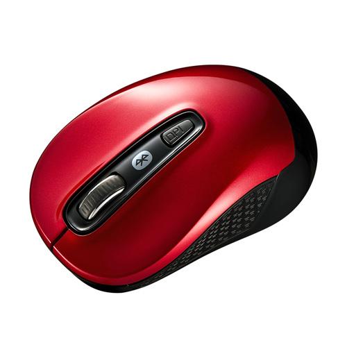 【期間限定価格】Bluetooth3.0 ブルーLEDマウス(レッド)