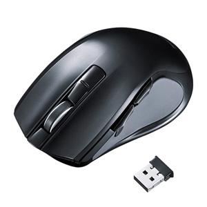 ワイヤレスブルーLEDマウス(心拍センサー付・大型)