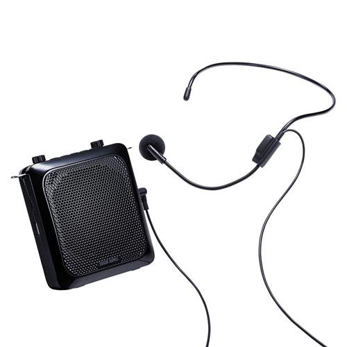拡声器スピーカー(ハンズフリー・最大出力14W・マイク付き・ポータブル・音楽再生・マイク・授業・飛散・飛沫)