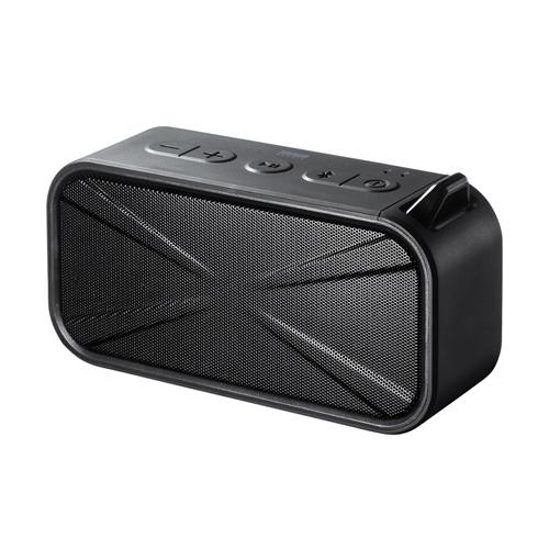 Bluetoothスピーカー(防水・防塵・microSD対応・ブラック)